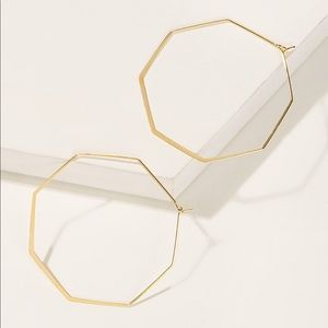 🖤Coming Soon🖤 Gold Octagon Hoops